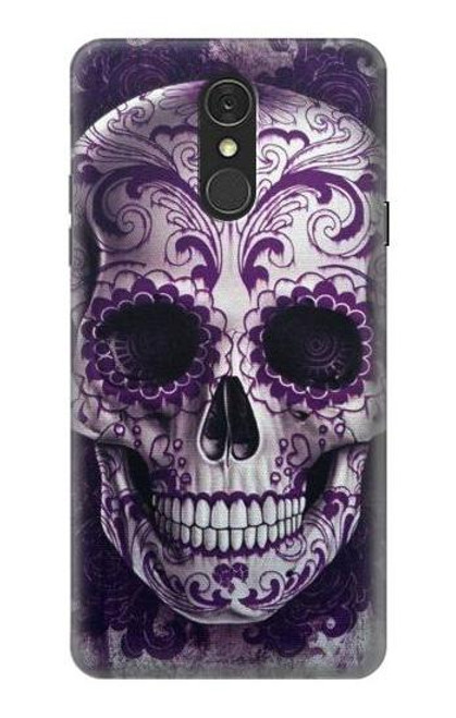 S3582 Purple Sugar Skull Case For LG Q7