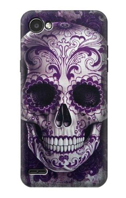 S3582 Purple Sugar Skull Case For LG Q6