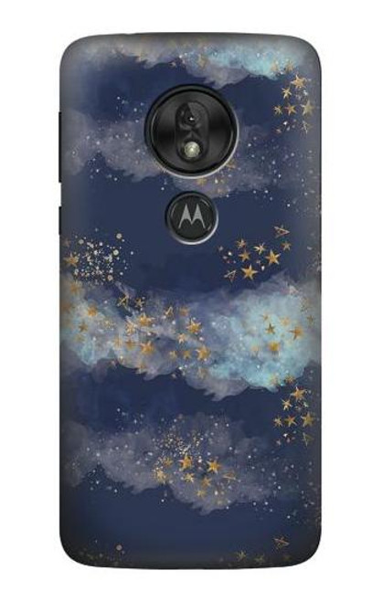 S3364 Gold Star Sky Case For Motorola Moto G7 Play