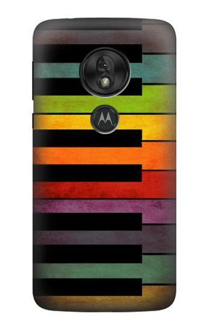 S3451 Colorful Piano Case For Motorola Moto G7 Play