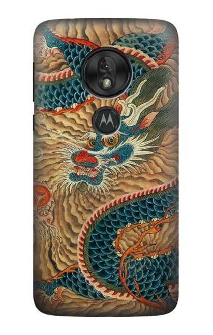 S3541 Dragon Cloud Painting Case For Motorola Moto G7 Play
