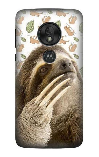 S3559 Sloth Pattern Case For Motorola Moto G7 Play