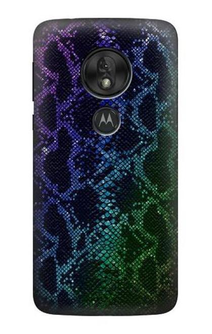 S3366 Rainbow Python Skin Graphic Print Case For Motorola Moto G7 Power