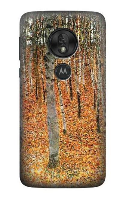 S3380 Gustav Klimt Birch Forest Case For Motorola Moto G7 Power