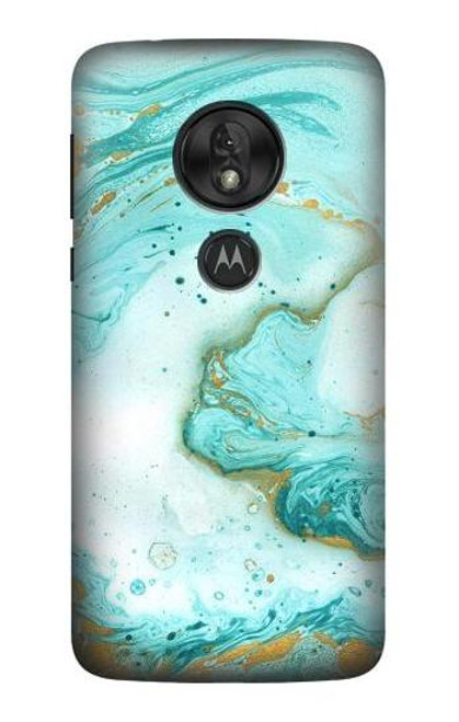 S3399 Green Marble Graphic Print Case For Motorola Moto G7 Power