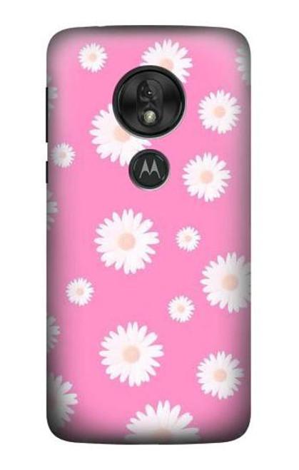 S3500 Pink Floral Pattern Case For Motorola Moto G7 Power