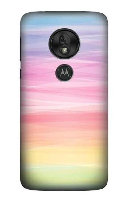 S3507 Colorful Rainbow Pastel Case For Motorola Moto G7 Power