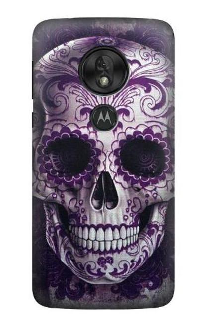 S3582 Purple Sugar Skull Case For Motorola Moto G7 Power