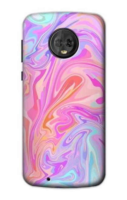 S3444 Digital Art Colorful Liquid Case For Motorola Moto G6
