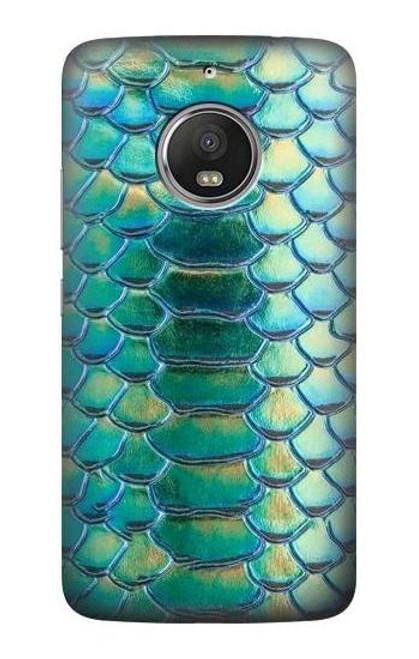 S3414 Green Snake Scale Graphic Print Case For Motorola Moto G5S