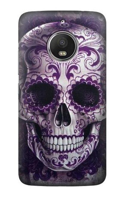 S3582 Purple Sugar Skull Case For Motorola Moto G5S