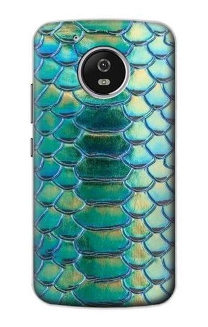 S3414 Green Snake Scale Graphic Print Case For Motorola Moto G5