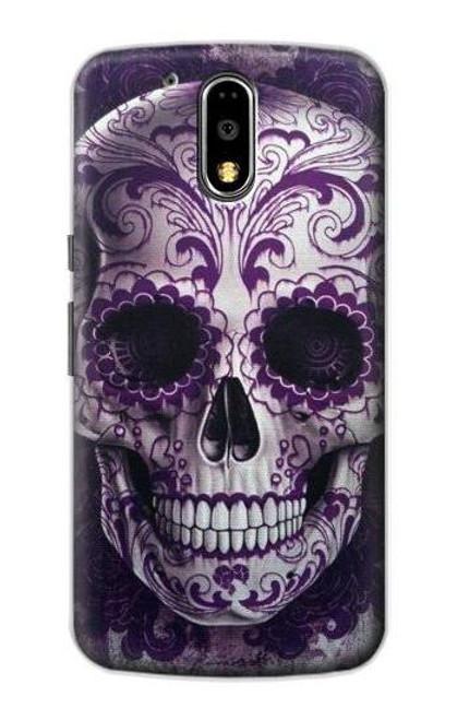 S3582 Purple Sugar Skull Case For Motorola Moto G4, G4 Plus