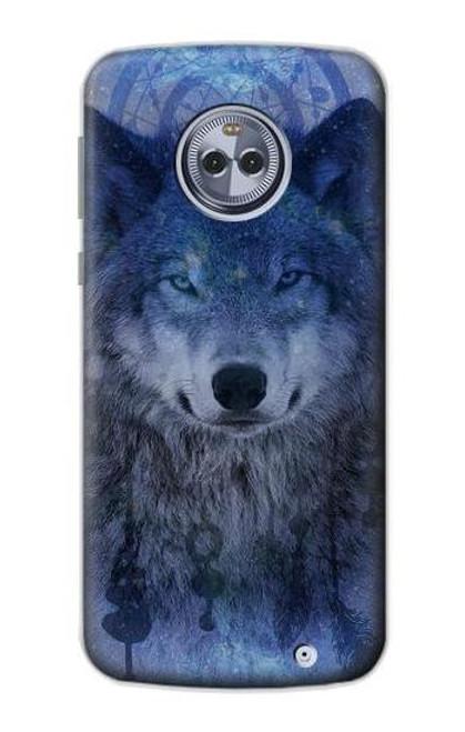S3410 Wolf Dream Catcher Case For Motorola Moto X4