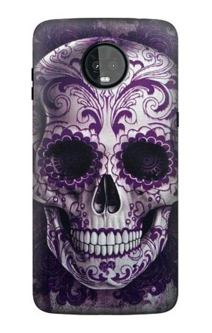 S3582 Purple Sugar Skull Case For Motorola Moto Z3, Z3 Play