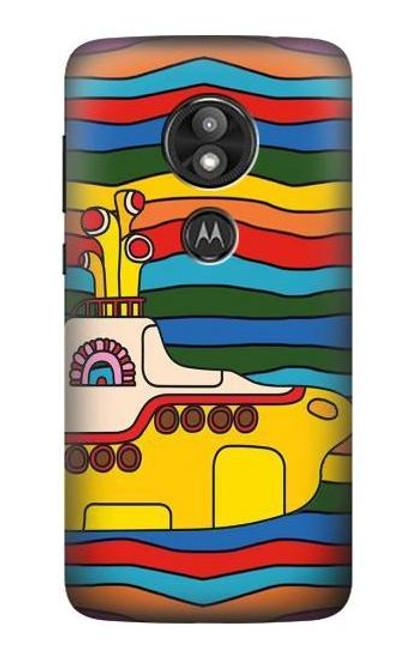 S3599 Hippie Yellow Submarine Case For Motorola Moto E Play (5th Gen.), Moto E5 Play, Moto E5 Cruise (E5 Play US Version)