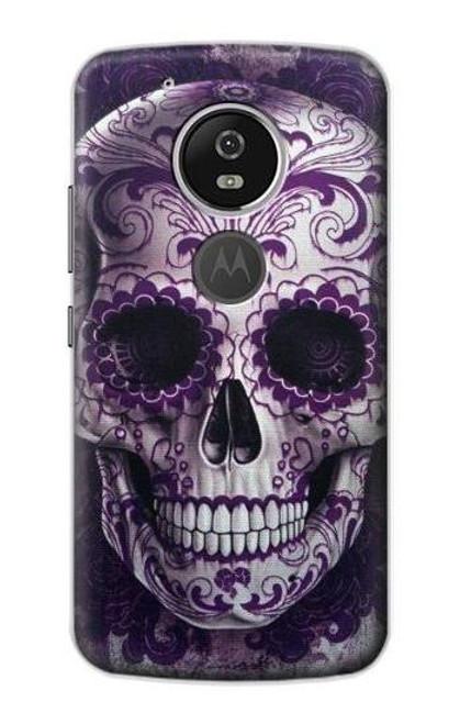 S3582 Purple Sugar Skull Case For Motorola Moto G6 Play, Moto G6 Forge, Moto E5