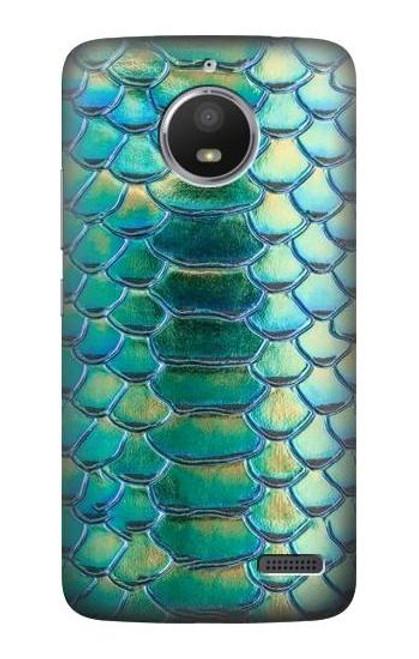 S3414 Green Snake Scale Graphic Print Case For Motorola Moto E4
