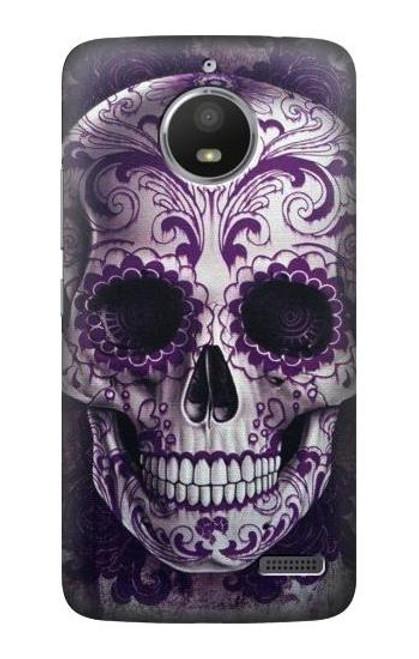 S3582 Purple Sugar Skull Case For Motorola Moto E4