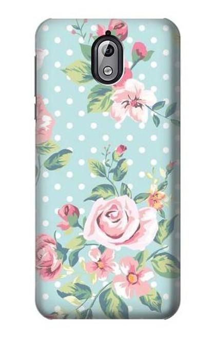 S3494 Vintage Rose Polka Dot Case For Nokia 3.1