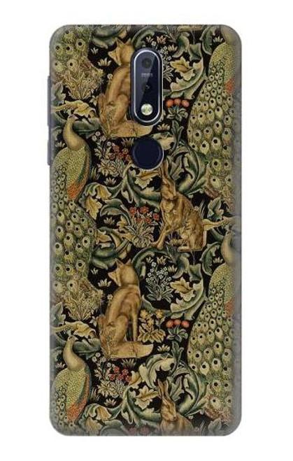 S3661 William Morris Forest Velvet Case For Nokia 7.1