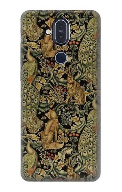 S3661 William Morris Forest Velvet Case For Nokia 8.1, Nokia X7
