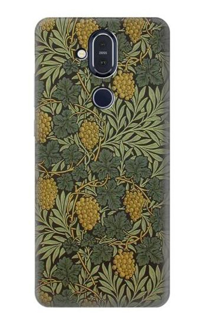 S3662 William Morris Vine Pattern Case For Nokia 8.1, Nokia X7
