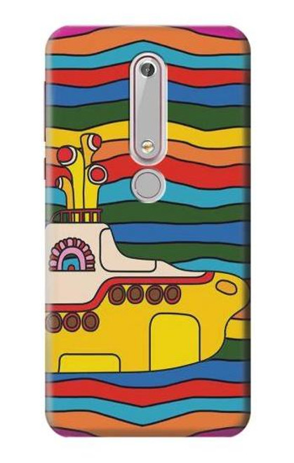 S3599 Hippie Yellow Submarine Case For Nokia 6.1, Nokia 6 2018