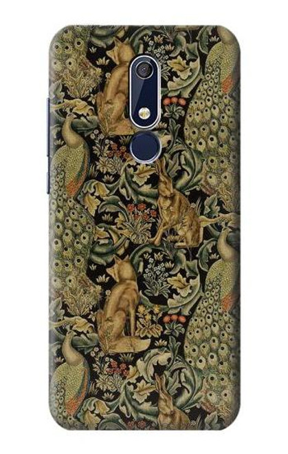 S3661 William Morris Forest Velvet Case For Nokia 5.1, Nokia 5 2018