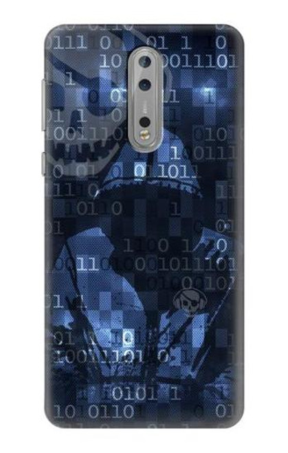 S3431 Digital Code Cyber Hacker Case For Nokia 8