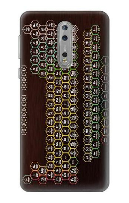 S3544 Neon Honeycomb Periodic Table Case For Nokia 8