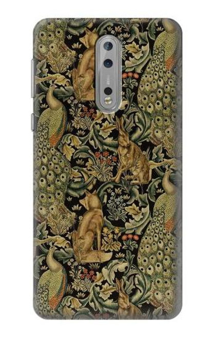 S3661 William Morris Forest Velvet Case For Nokia 8