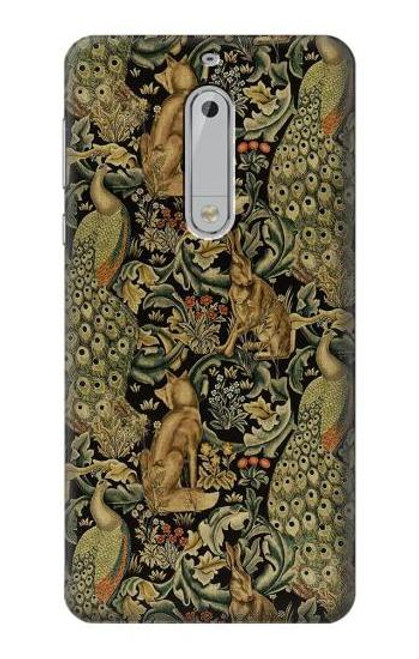 S3661 William Morris Forest Velvet Case For Nokia 5