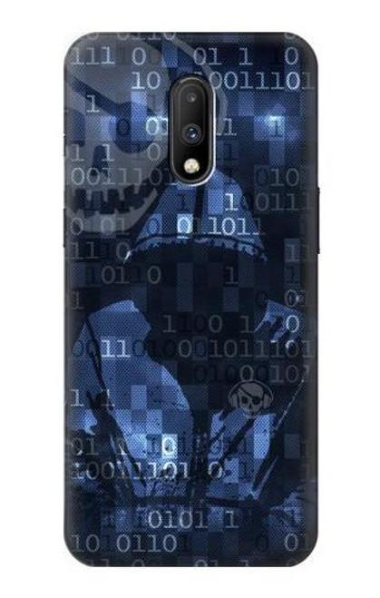S3431 Digital Code Cyber Hacker Case For OnePlus 7