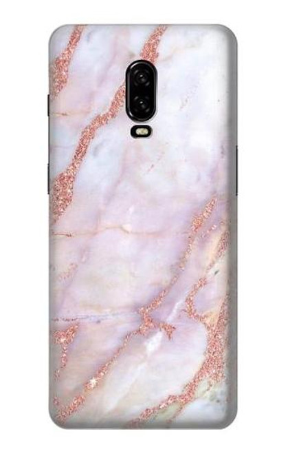 S3482 Soft Pink Marble Graphic Print Case For OnePlus 6T