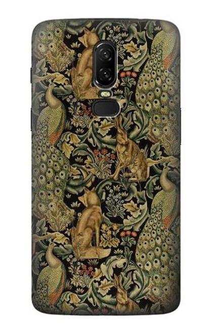 S3661 William Morris Forest Velvet Case For OnePlus 6