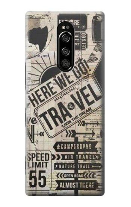 S3441 Vintage Travel Case For Sony Xperia 1