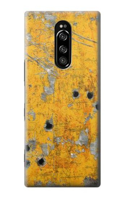 S3528 Bullet Rusting Yellow Metal Case For Sony Xperia 1