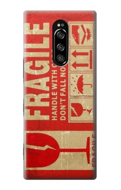 S3552 Vintage Fragile Label Art Case For Sony Xperia 1