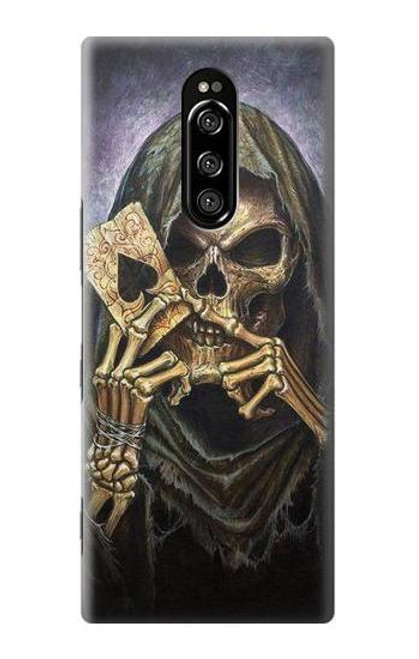 S3594 Grim Reaper Wins Poker Case For Sony Xperia 1
