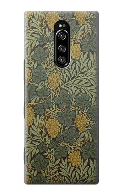 S3662 William Morris Vine Pattern Case For Sony Xperia 1