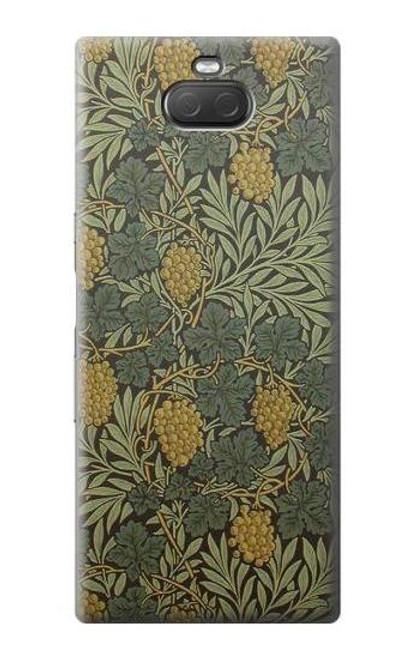 S3662 William Morris Vine Pattern Case For Sony Xperia 10 Plus