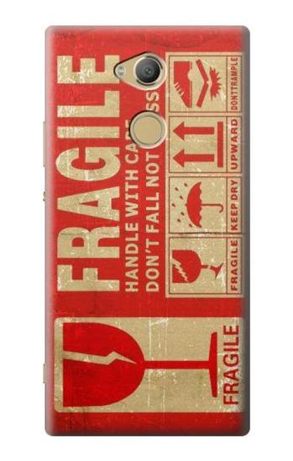 S3552 Vintage Fragile Label Art Case For Sony Xperia XA2 Ultra