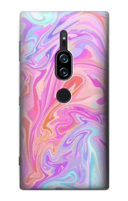 S3444 Digital Art Colorful Liquid Case For Sony Xperia XZ2 Premium