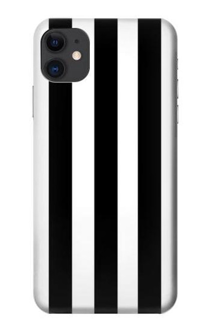 S2297 Black and White Vertical Stripes Case For iPhone 11