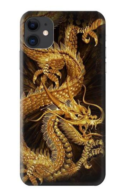 S2804 Chinese Gold Dragon Printed Case For iPhone 11