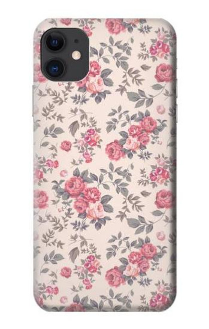 S3095 Vintage Rose Pattern Case For iPhone 11