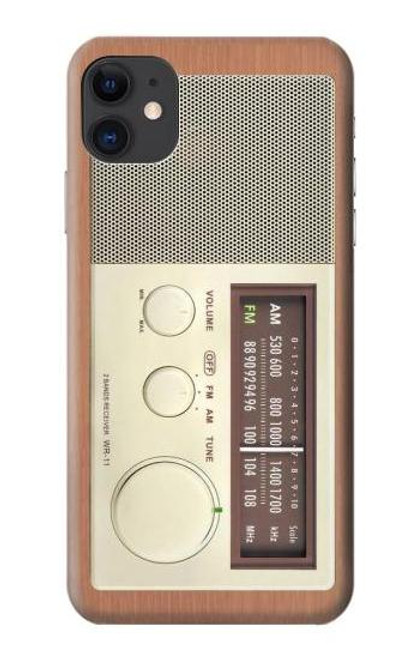 S3165 FM AM Wooden Receiver Graphic Case For iPhone 11