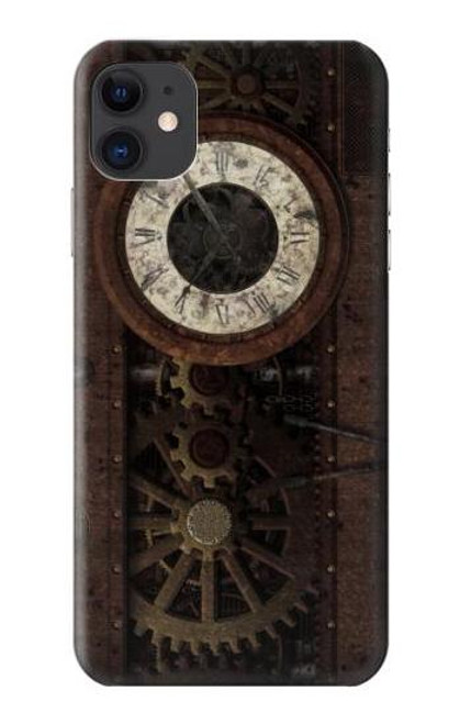 S3221 Steampunk Clock Gears Case For iPhone 11