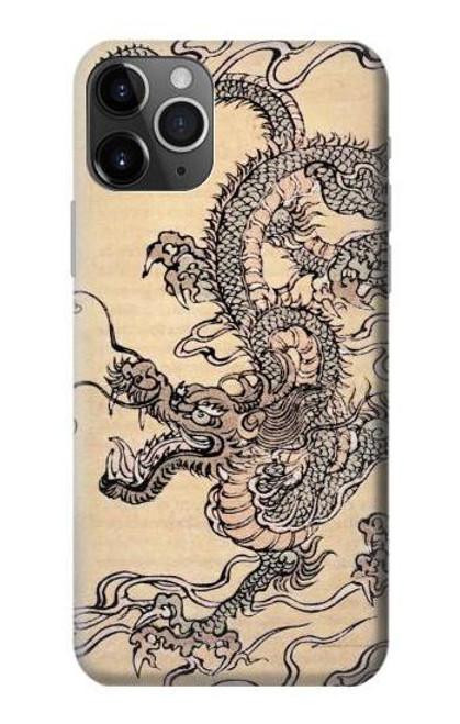 S0318 Antique Dragon Case For iPhone 11 Pro